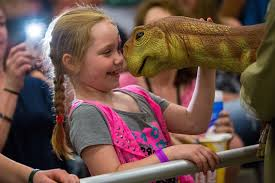 interact with size dinosaurs at jurassic quest in conway
