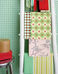 storing wrapping paper make space to wrap gifts