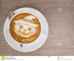 halloween pumpkin coffee stock photo image 58712360