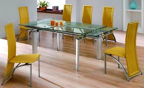 glass dining room table with extension amusing design dining room