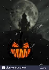 halloween scary background 3d halloween background with scary jack o lantern and castle in