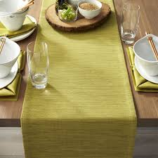 grasscloth 90 green table runner crate and barrel