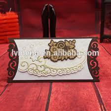 Wholesale Wedding Invitations Laser Cut Wooden Flower Shaped Wedding Invitation Card Wedding
