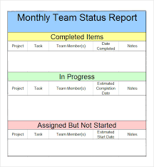weekly report template executive weekly status report template