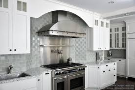 small white kitchen backsplash