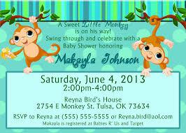 Baby Boy Monkey Theme Baby Shower Invitations With Monkeys Monkey Boy Shaped Baby Shower