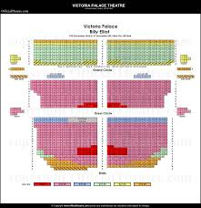 Seat Map Victoria Palace Theatre London Seat Map And Prices For Hamilton