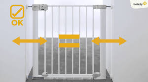 Baby Gates For Stairs No Drilling How To Install Safety 1st Auto Close Baby Gate Youtube