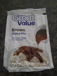 our old homestead brown gravy mix can leave out some of the