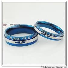 cheap his and hers wedding rings 2018 2014 blue rings mens womens wedding engagement