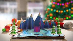 Merry Christmas Business Email by Pop Up Book Christmas Card Animation Business Message Video
