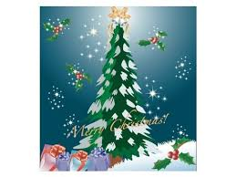 christmas template design with 3d fir tree card free vector in
