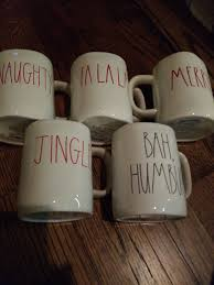 rae dunn set of 5 holiday coffee mugs mercari buy u0026 sell things