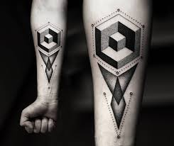 inspiring geometric tattoos alpha u0026 omega tattoo