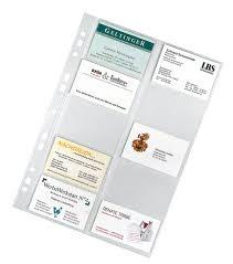 card pockets business cards pockets a4 veloflex
