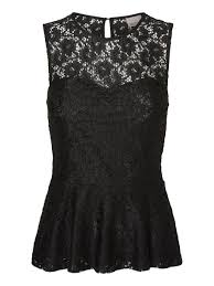 peplum party top from vero moda with lace detailing style it with