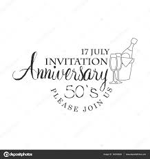 Invitation Card Designing Fifty Years Anniversary Party Black And White Invitation Card