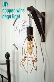 Wire Cage Light Nostalgiecat Diy Wire Cage Light Tutorial