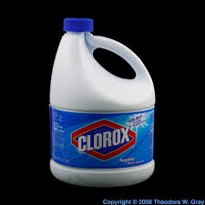 clorox bleach a sample of the element chlorine in the periodic table