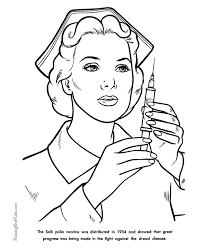 salk polio vaccine american history and coloring pages for kids 111