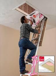 werner ae2210 energy seal aluminum attic ladder