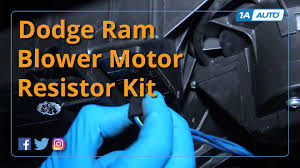 Dodge Ram Truck Parts - how to replace install blower motor and resistor 2002 08 dodge ram