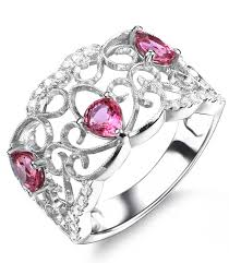designer wedding rings designer 1 carat pear cut pink sapphire and diamond wedding ring