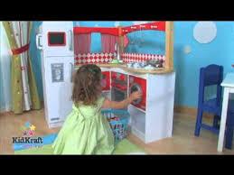 Kidkraft Kitchen Red - kidkraft red grand gourmet kitchen 53225 youtube