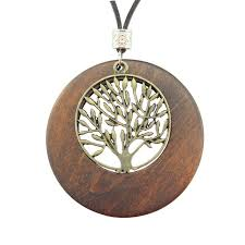 wood pendant necklace images Alloy life tree wooden pendant necklace wood fashion necklace us jpg