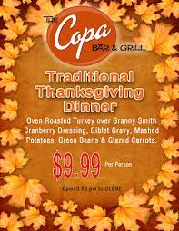 typical thanksgiving menu thanksgiving dinner at the copa bar u0026 grill things to do in reno