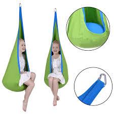 Hanging Outdoor Chairs Pods Costway Child Pod Swing Chair Tent Nook Indoor Outdoor Hanging