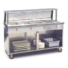 Food Warming Equipment Steam Table 4 Pan Portable With Open Base