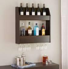 floating wine rack shelf wall mounted bottle glass storage wood