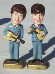 beatles cake toppers bobblehead plastic cake topper figures 60s vintage bobble heads