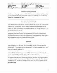 Business Letter Assignment Ideas Company Profile Template Word Format