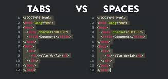 tabs vs spaces for indentation in coding truly code
