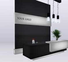 Modern Office Reception Desk Second Life Marketplace Modern Reception Desk Set Polodium V 03
