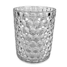 crystal ball glass bathroom accessories in clear bedbathandbeyond