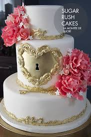 Best 25 Gold Heart Wedding Cakes Ideas On Pinterest Pastel Pink