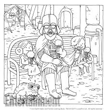 color this page from u0027darth vader and family u0027