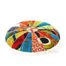 Ottoman Pillow Cushion by Kantha Floor Cushions U0026 Ottomans Eyes Of India