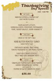 thanksgiving remarkable thanksgiving dinner menu huggos tday