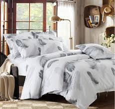 Peacock Feather Comforter Set Aliexpress Com Buy Black And White Bedding Set Feather Duvet