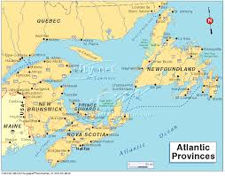 map east coast canada map of canada east major tourist attractions maps