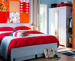 Light Blue Room by Decorating Ideas Fair Picture Of Orange Bedroom Design And