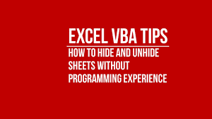 use vba to automatically hide and unhide excel sheets without