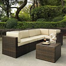 Modular Wicker Patio Furniture - crosley furniture palm harbor 6 piece outdoor wicker seating set