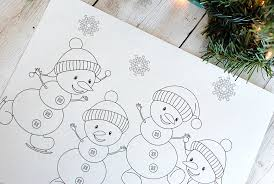 free printable christmas coloring pages crazy projects