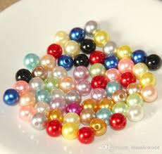 pearls beads necklace images Wholesale mixed color glass pearl loose beads 6mm 8mm 10mm round jpg