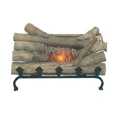 electric fireplace logs fireplace logs the home depot
